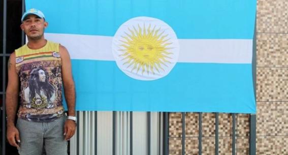 barrio de brasil apoya a seleccion argentina 2