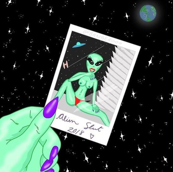 ilustraciones de alien slut 6