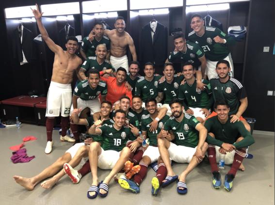 reacciones de los jugadores del mexico vs alemania 1