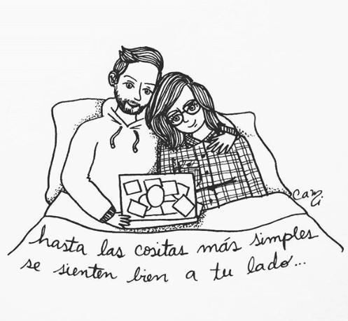 ilustraciones de cami sobre lo que siento al verte despertar junto a mi 5