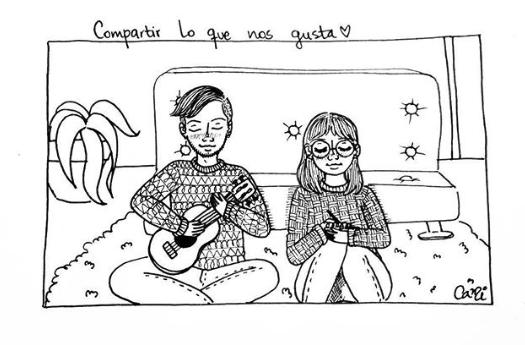 ilustraciones de cami sobre lo que siento al verte despertar junto a mi 6