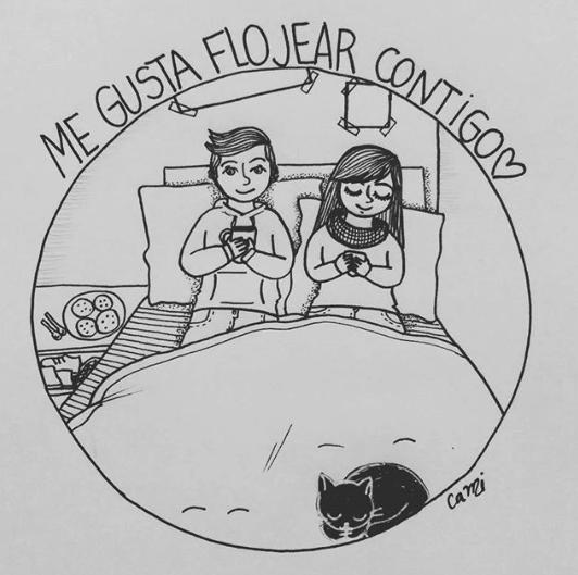 ilustraciones de cami sobre lo que siento al verte despertar junto a mi 7