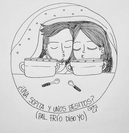 ilustraciones de cami sobre lo que siento al verte despertar junto a mi 8