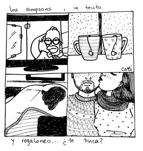 ilustraciones de cami sobre lo que siento al verte despertar junto a mi 9