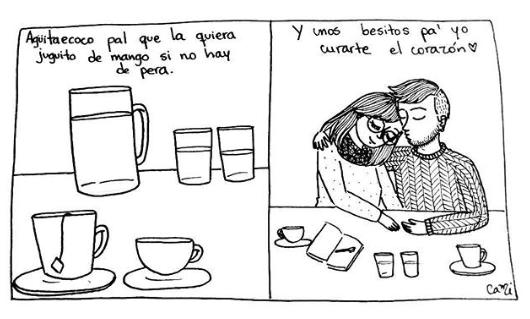 ilustraciones de cami sobre lo que siento al verte despertar junto a mi 10