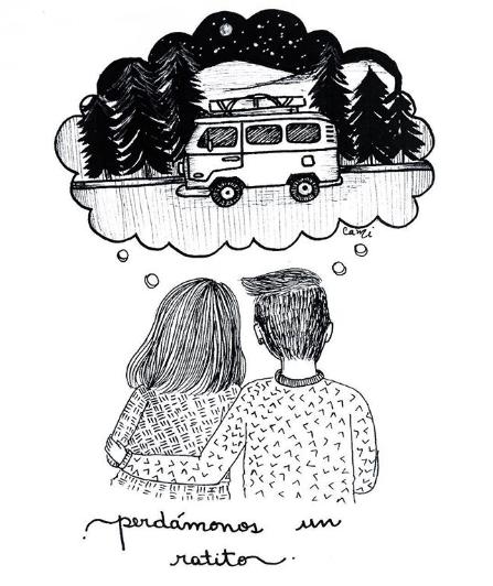ilustraciones de cami sobre lo que siento al verte despertar junto a mi 11
