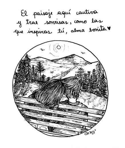 ilustraciones de cami sobre lo que siento al verte despertar junto a mi 12