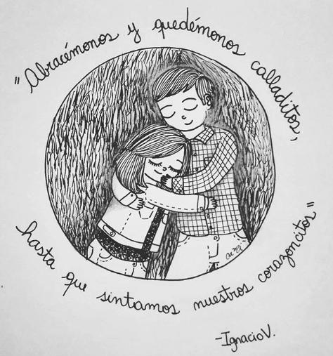 ilustraciones de cami sobre lo que siento al verte despertar junto a mi 13