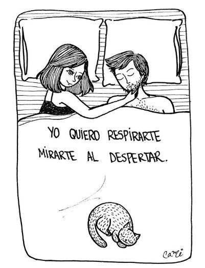 ilustraciones de cami sobre lo que siento al verte despertar junto a mi 17