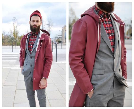 consejos de moda para hombres que quieren usar un impermeable y no saben como combinarlo 3