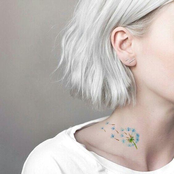 cosas que debes tomar en cuenta antes de hacerte un tatuaje en colores pastel 5