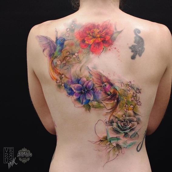 cosas que debes tomar en cuenta antes de hacerte un tatuaje en colores pastel 9