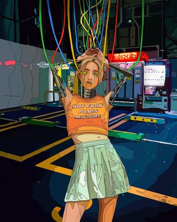 ilustraciones de mad dog jones artista del cyberpunk 1