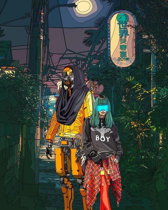 ilustraciones de mad dog jones artista del cyberpunk 3