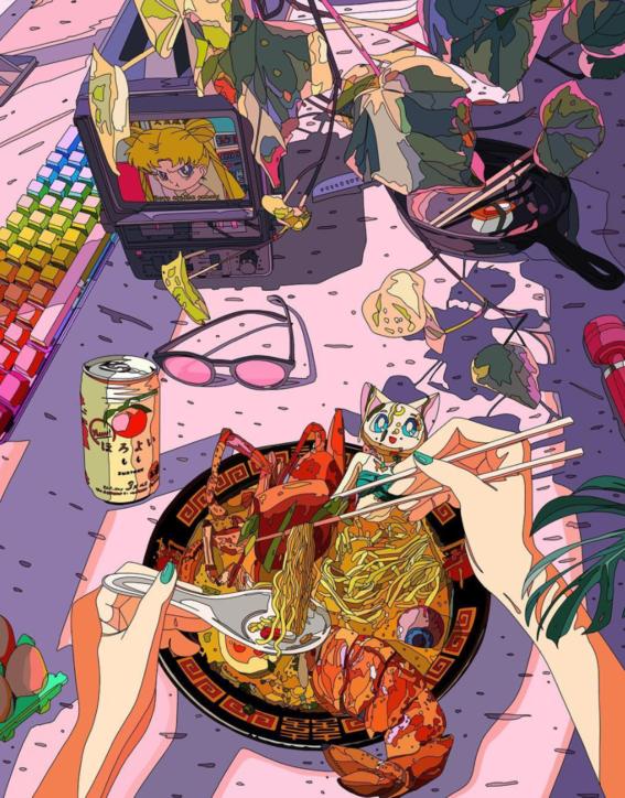ilustraciones de mad dog jones artista del cyberpunk 4