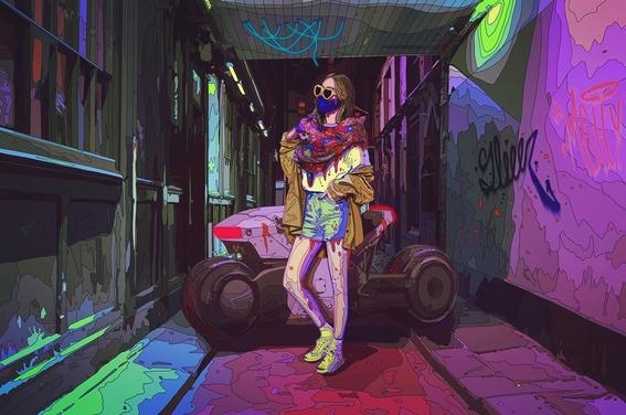 ilustraciones de mad dog jones artista del cyberpunk 5