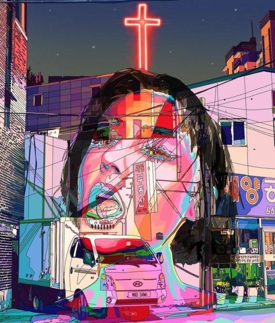 ilustraciones de mad dog jones artista del cyberpunk 9