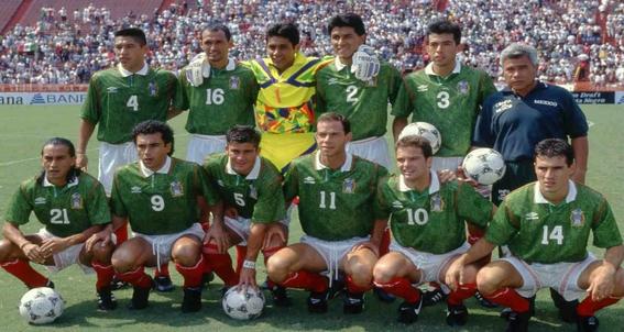 evolucion de los uniformes de mexico en los mundiales 8