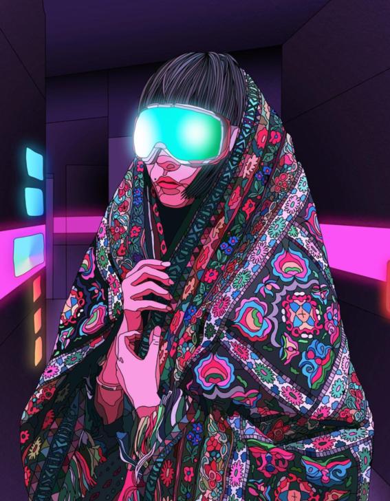 ilustraciones de mad dog jones artista del cyberpunk 12
