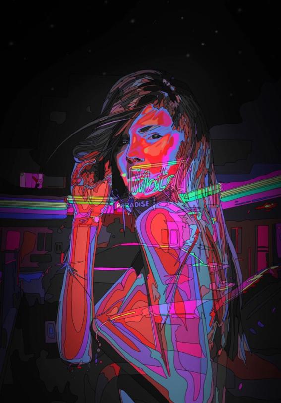 ilustraciones de mad dog jones artista del cyberpunk 16