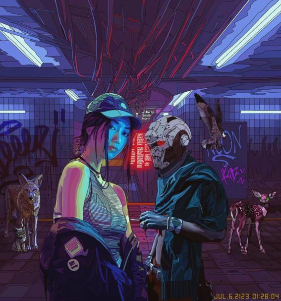ilustraciones de mad dog jones artista del cyberpunk 13