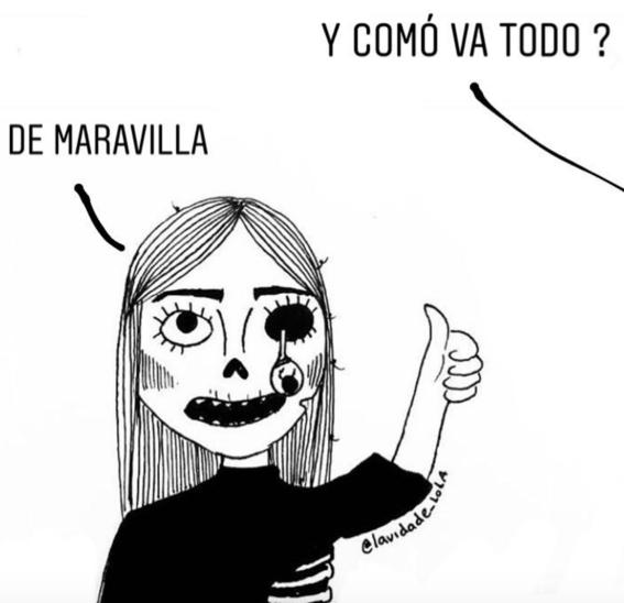 ilustraciones de lola sobre mujeres que ya no creen en el amor 2