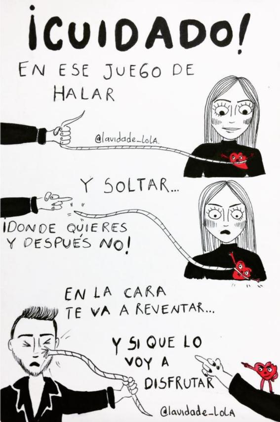 ilustraciones de lola sobre mujeres que ya no creen en el amor 17