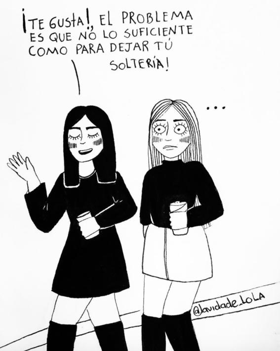 ilustraciones de lola sobre mujeres que ya no creen en el amor 4