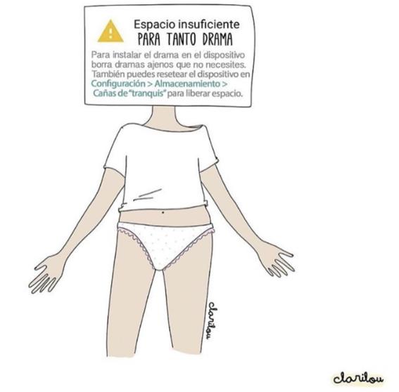 ilustraciones de carilou sobre los dramas que hacen las mujeres 14