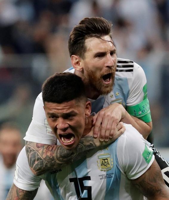 argentina gana a nigeria y esta en cuartos de final del mundial en rusia 1