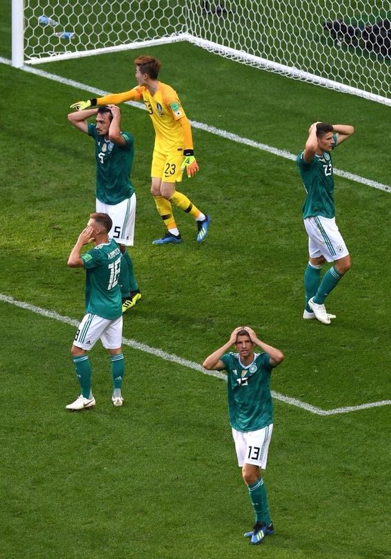 alemania fue eliminada por primera vez en la fase de grupos del mundial 1