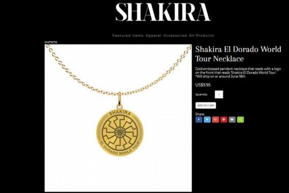 shakira promocino simbolo nazi en su tour el dorado 1