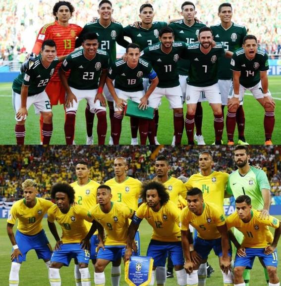 mexico enfrentara a brasil en octavos de final de rusia 1