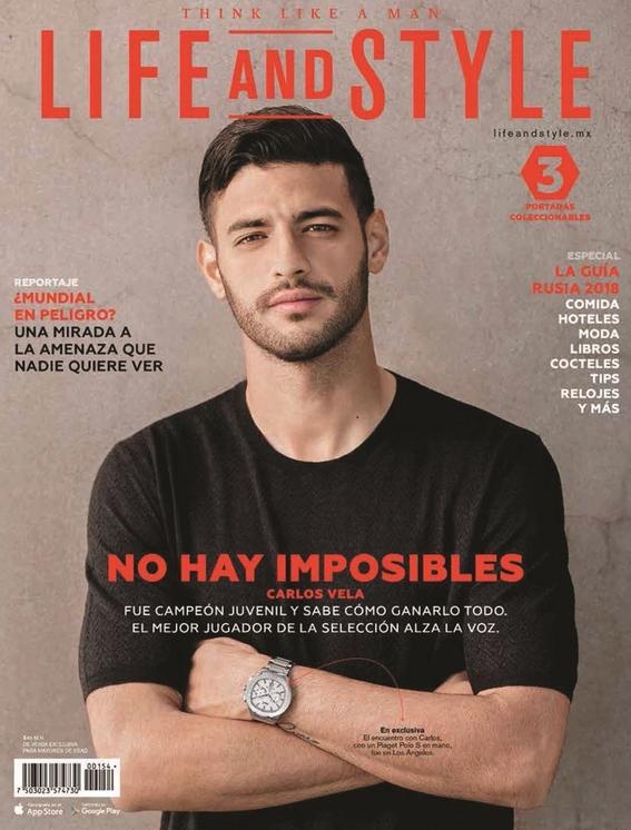 carlos vela en  portada de revista 1