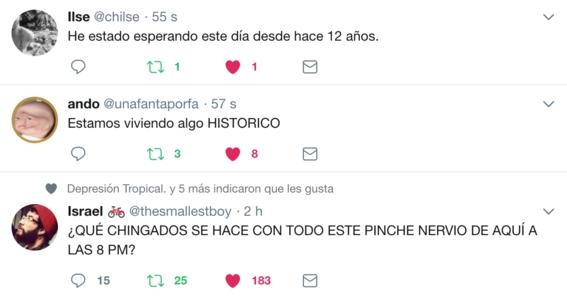 reacciones en twitter a resultados eleccion presidencial 1