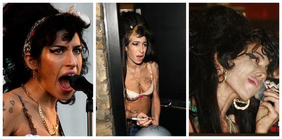 fotos del antes y despues de amy winehouse y otras famosas adictas a las drogas 2