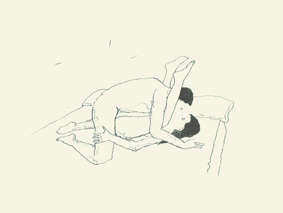ilustraciones de salvador ballet sobre el erotismo en pareja 12