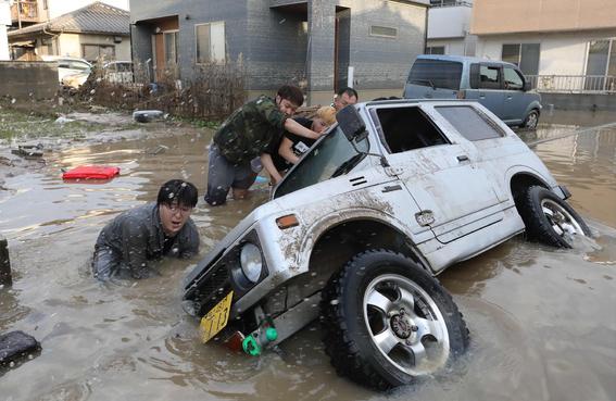 inundaciones de japon en imagenes 1