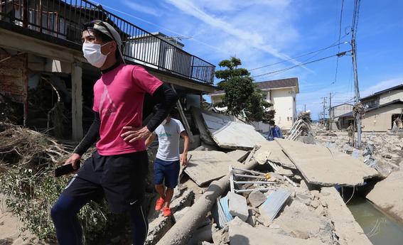 inundaciones de japon en imagenes 3