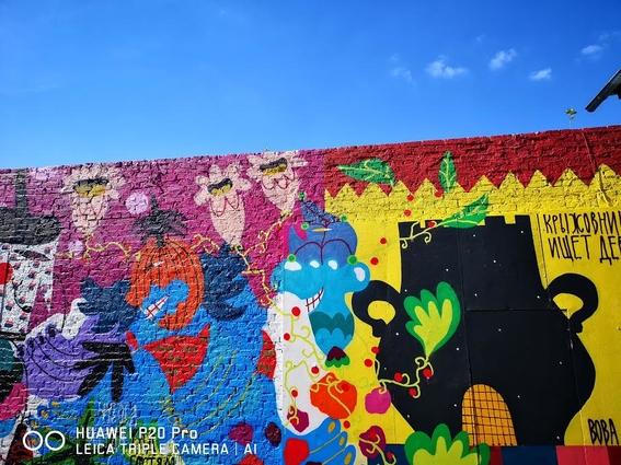 grafitis en las calles de rusia durante el mundial 2