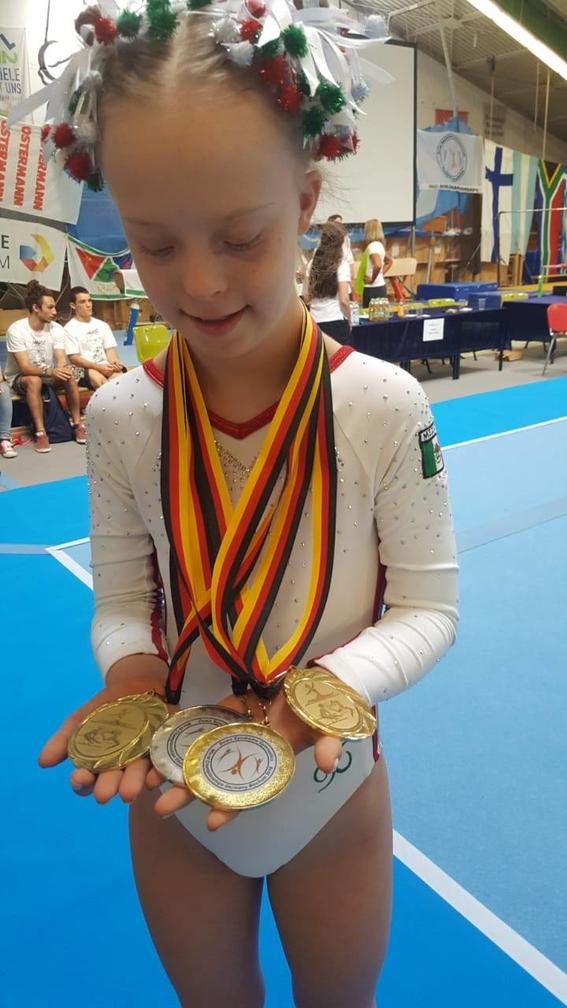 barbara wetzel gano oro en campeonato mundial de gimnasia sindrome de down 1