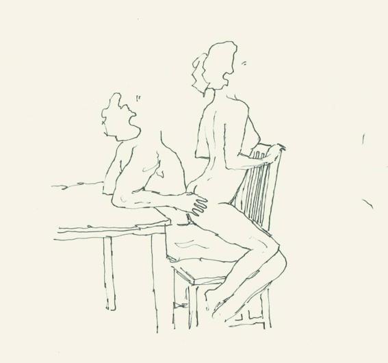 ilustraciones de salvador ballet sobre el erotismo en pareja 11