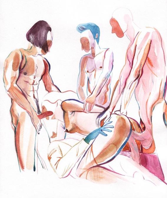 pinturas de watercolor porn para ideas mas creativas en el sexo 6