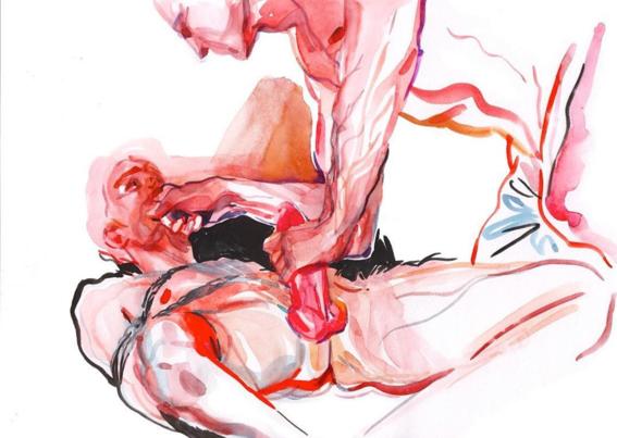 pinturas de watercolor porn para ideas mas creativas en el sexo 7