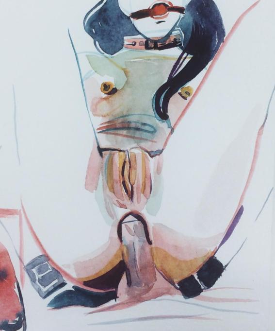 pinturas de watercolor porn para ideas mas creativas en el sexo 11