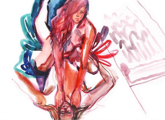 pinturas de watercolor porn para ideas mas creativas en el sexo 22