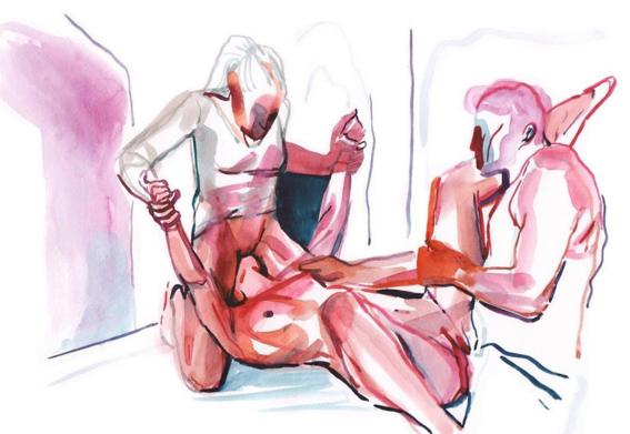pinturas de watercolor porn para ideas mas creativas en el sexo 23