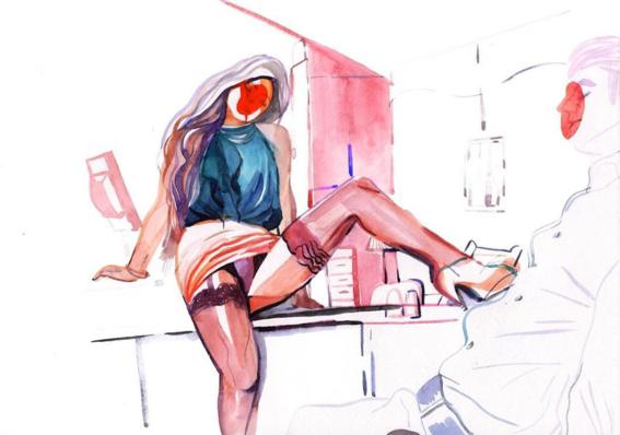 pinturas de watercolor porn para ideas mas creativas en el sexo 24