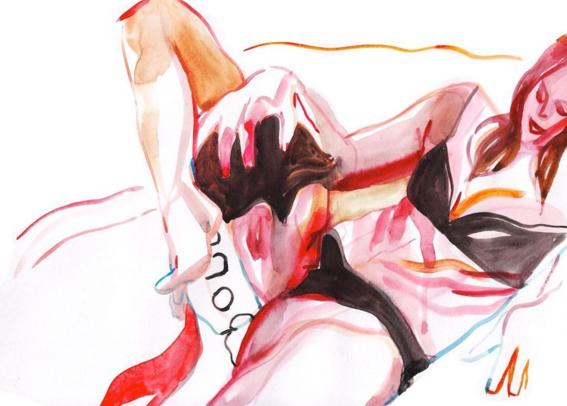 pinturas de watercolor porn para ideas mas creativas en el sexo 26