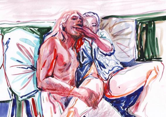 pinturas de watercolor porn para ideas mas creativas en el sexo 28